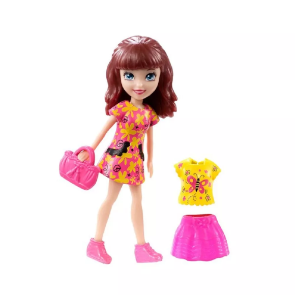 POLLY POCKET NEON LILA ROSA DWC23 - MATTEL