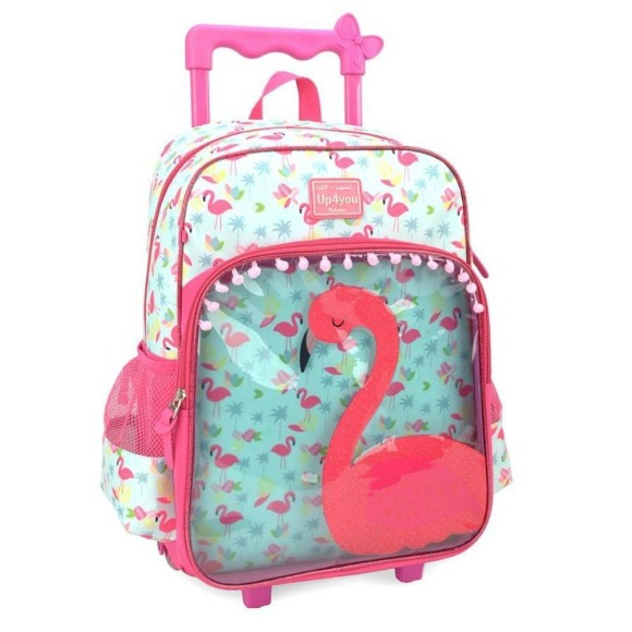 MOCHILA C/ RODINHAS UP4YOU PETIT INF FLAMINGO 41CM IC33102UP-AZ