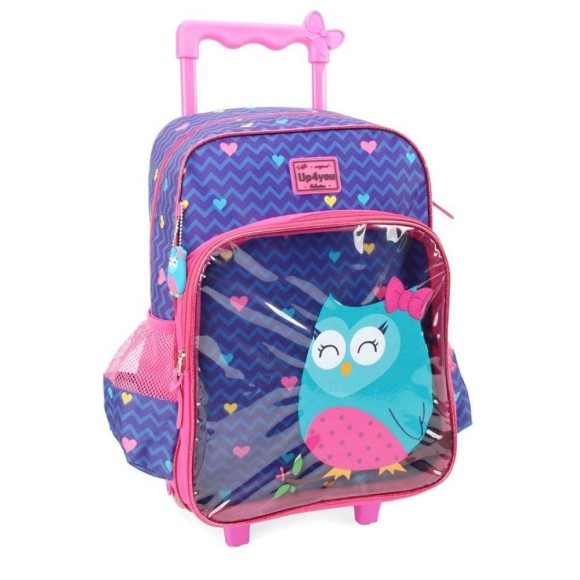 MOCHILA C/ RODINHAS UP4YOU PETIT CORUJA 41CM IC33102UP-RX