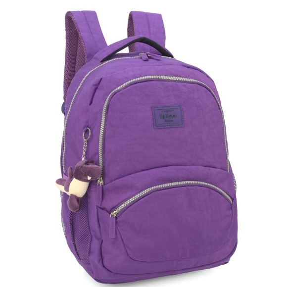MOCHILA UP4YOU CRINKLE ROXO 46CM MJ48502UP-RX - LUXCEL