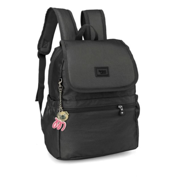 MOCHILA UP4YOU BY MAISA METAL PRETO MS45604UP-PT 35CM- LUXCEL