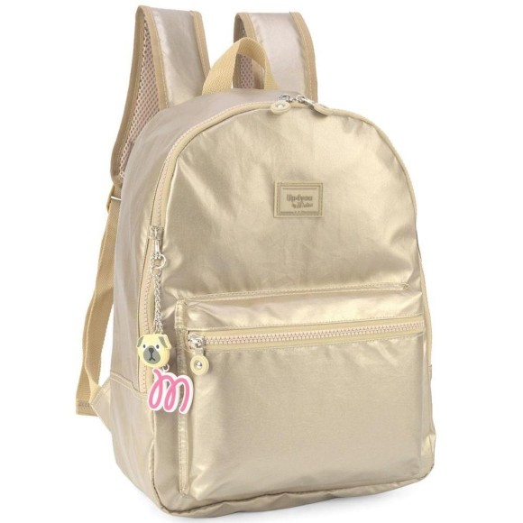 MOCHILA UP4YOU BY MAISA METAL OURO MS45604UP-OR 35CM- LUXCEL