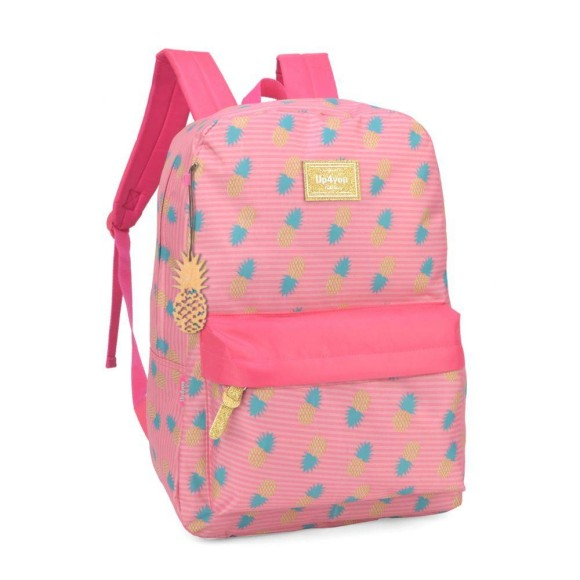 MOCHILA COSTAS UP4YOU ABACAXI C/ CHAV 44CM MS45584UP - LUXCEL