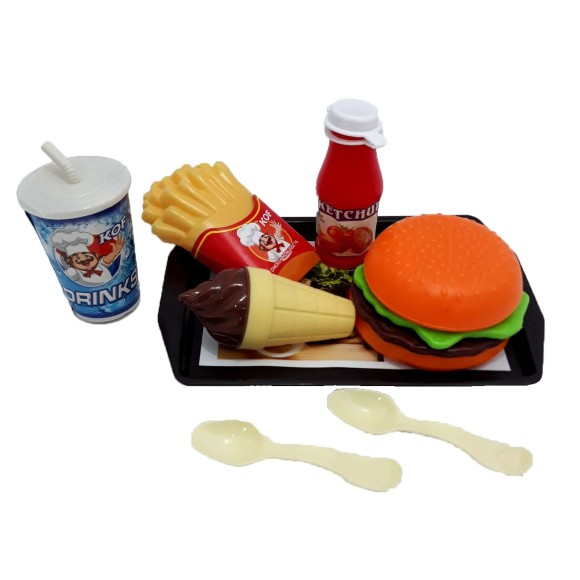 KIT LANCHONETE FAST FOOD 8PÇ ZD-558