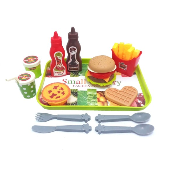 KIT LANCHONETE FAST FOOD 13PCS 552-1
