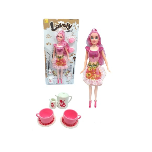 BONECA LOVELY HORA DO CHA 30CM LY-2707