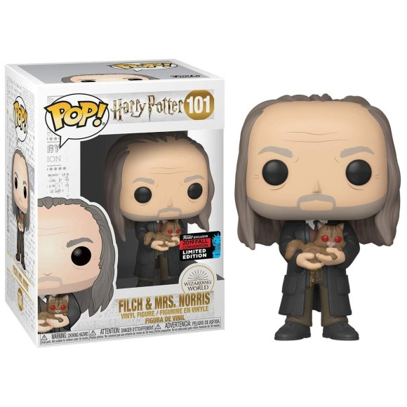 POP FILCH E MRS. NORRIS *EX COMIC CON* 101 HARRY POTTER - FUNKO