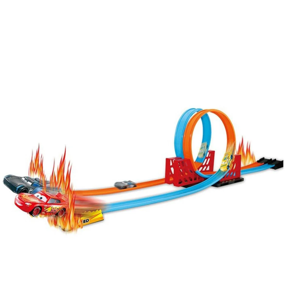 PISTA SUPER TRACK DUPLO LOOPING CARROS 17616-106