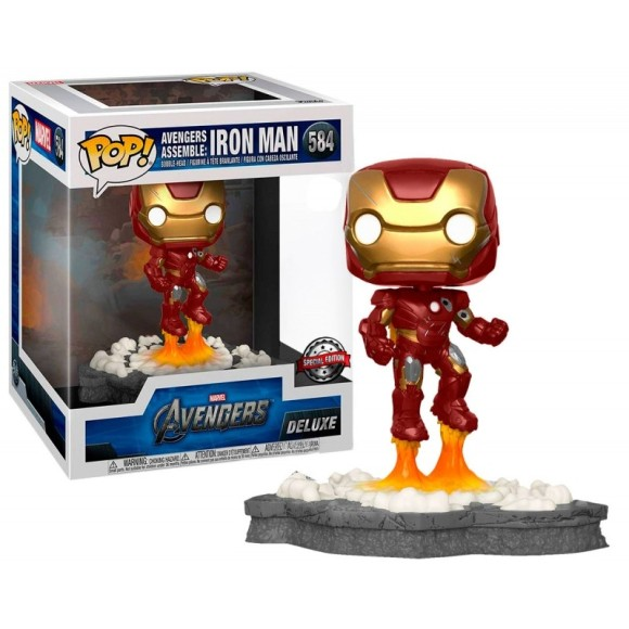 POP AVENGERS ASSEMBLE: IRON MAN DELUXE 584 - FUNKO
