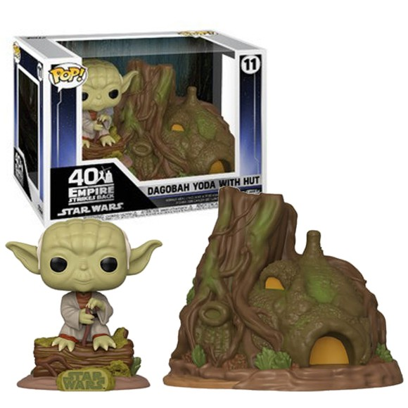 POP DAGOBAH YODA WITH HUT 11 STAR WARS - FUNKO