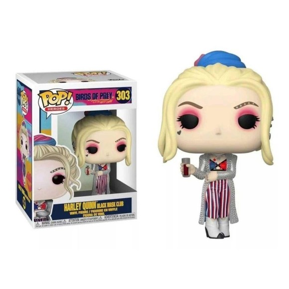 POP HARLEY QUINN BLACK MASK CLUB 303 BIRDS OF PREY - FUNKO