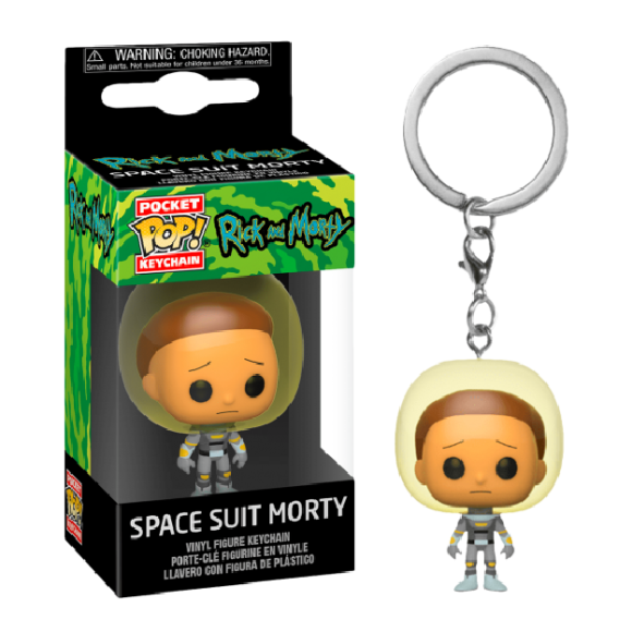 POP KEYCHAIN SPACE SUIT MORTY RICK AND MORT - FUNKO