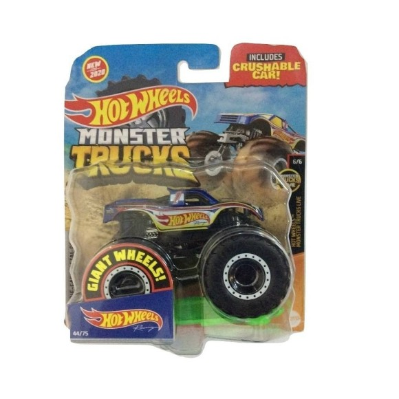 HOT WHEELS MONSTER TRUCKS RACING GJF03 9CM - MATTEL