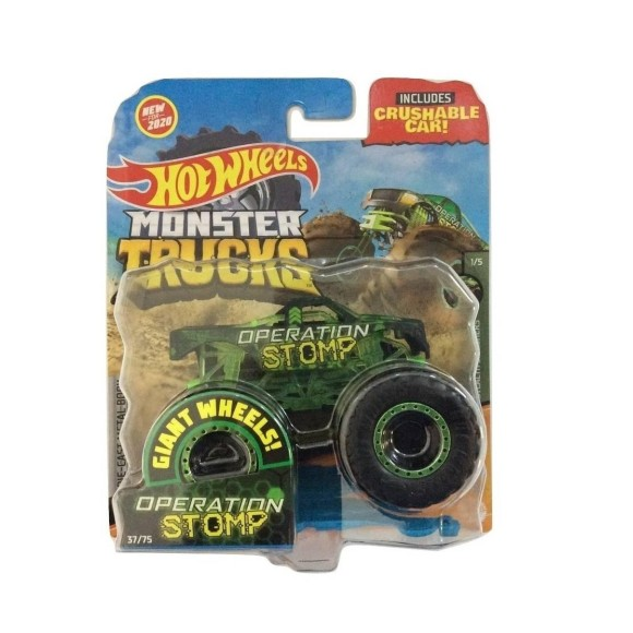 HOT WHEELS MONSTER TRUCKS OPERATION STOMP GJF14 9CM  - MATTEL