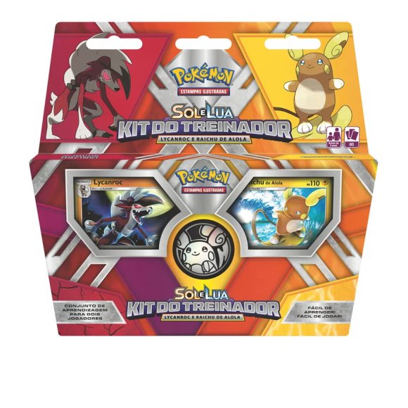 DECK KIT DO TREINADOR POKEMON SOL E LUA 60 CARTAS 290-40762