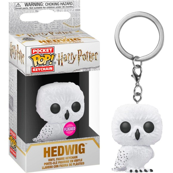 POP KEYCHAIN HEDWIG (FLOCKED) HARRY POTTER