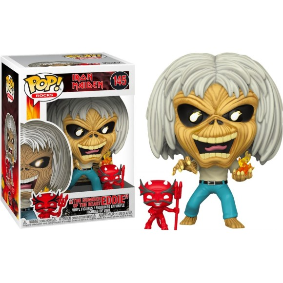 POP THE NUMBER OF THE BEAST EDDIE 145 IRON MAIDEN - FUNKO