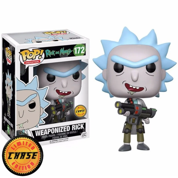 POP WEAPONIZED RICK (CHASE) 172 RICK AND MORTY - FUNKO