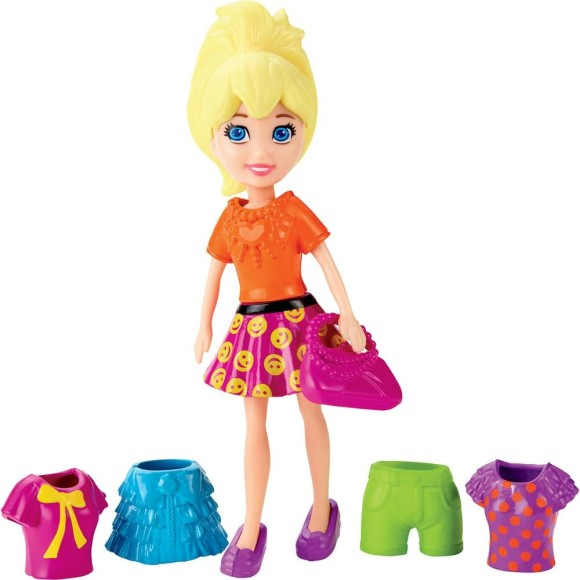 POLLY POCKET SUPER FASHION LARANJA CGJ01 - MATTEL