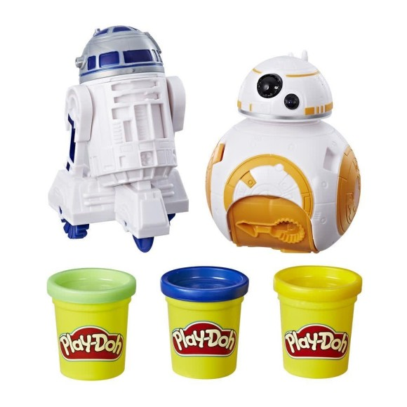 PLAY DOH STAR WARS BB8 E R2D2 C1041 - HASBRO